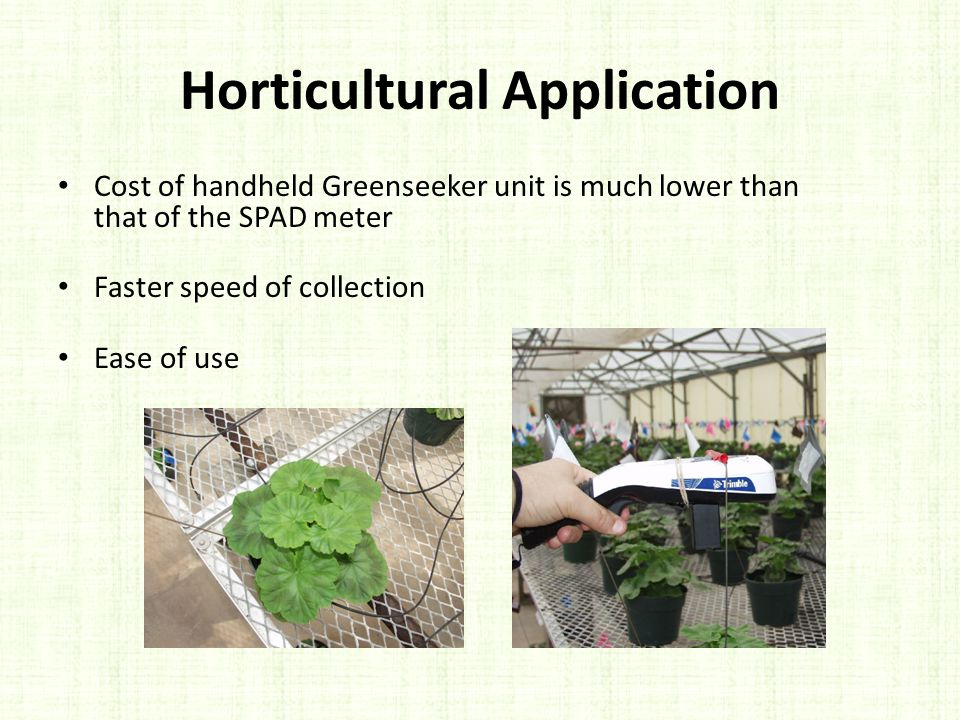 Horticultural Application
