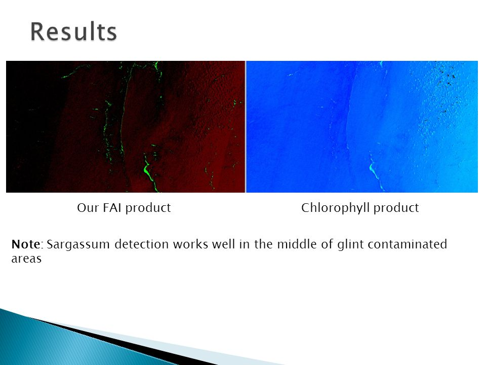 Results Our FAI product Chlorophyll product