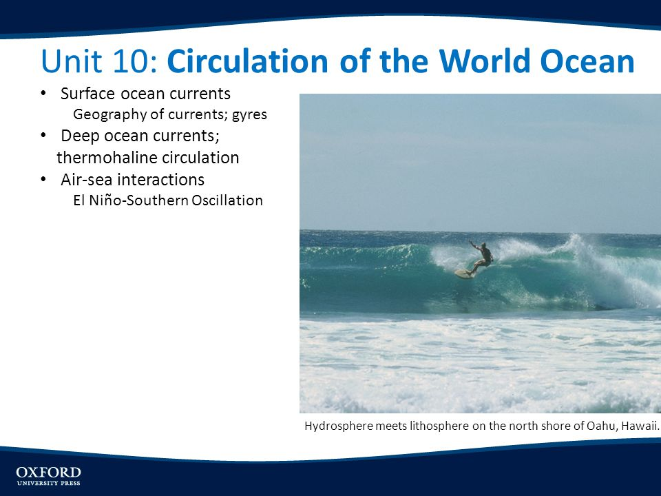 Unit 10: Circulation of the World Ocean