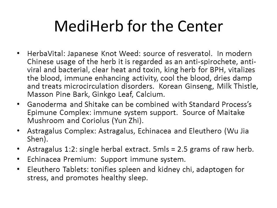 MediHerb for the Center
