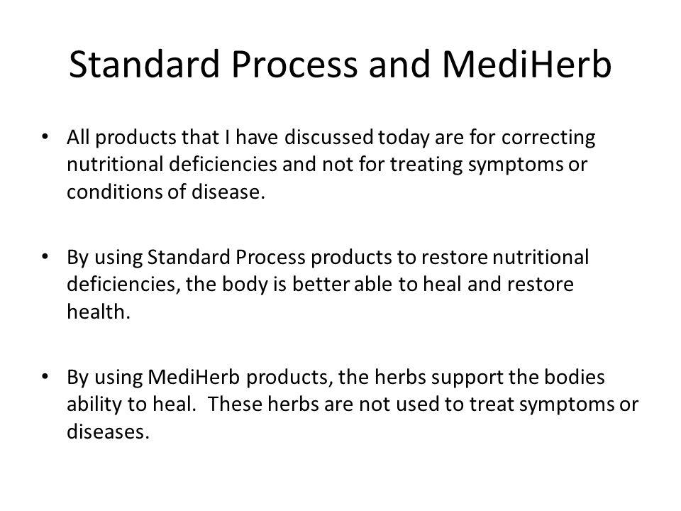 Standard Process and MediHerb