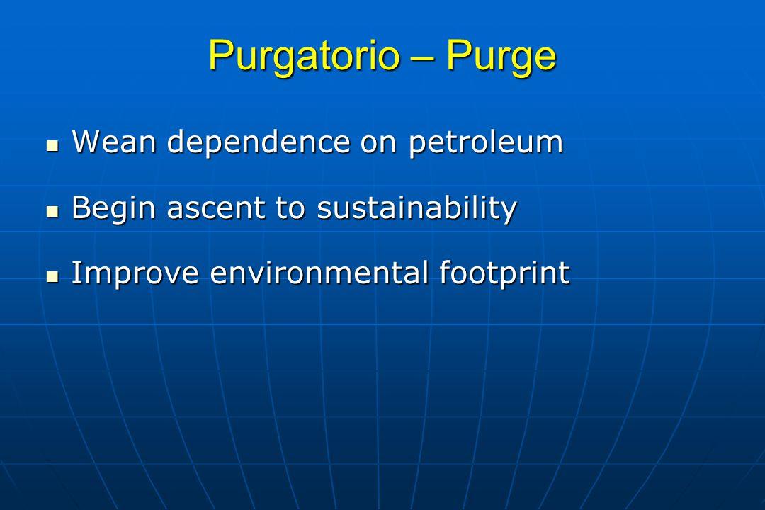 Purgatorio – Purge Wean dependence on petroleum
