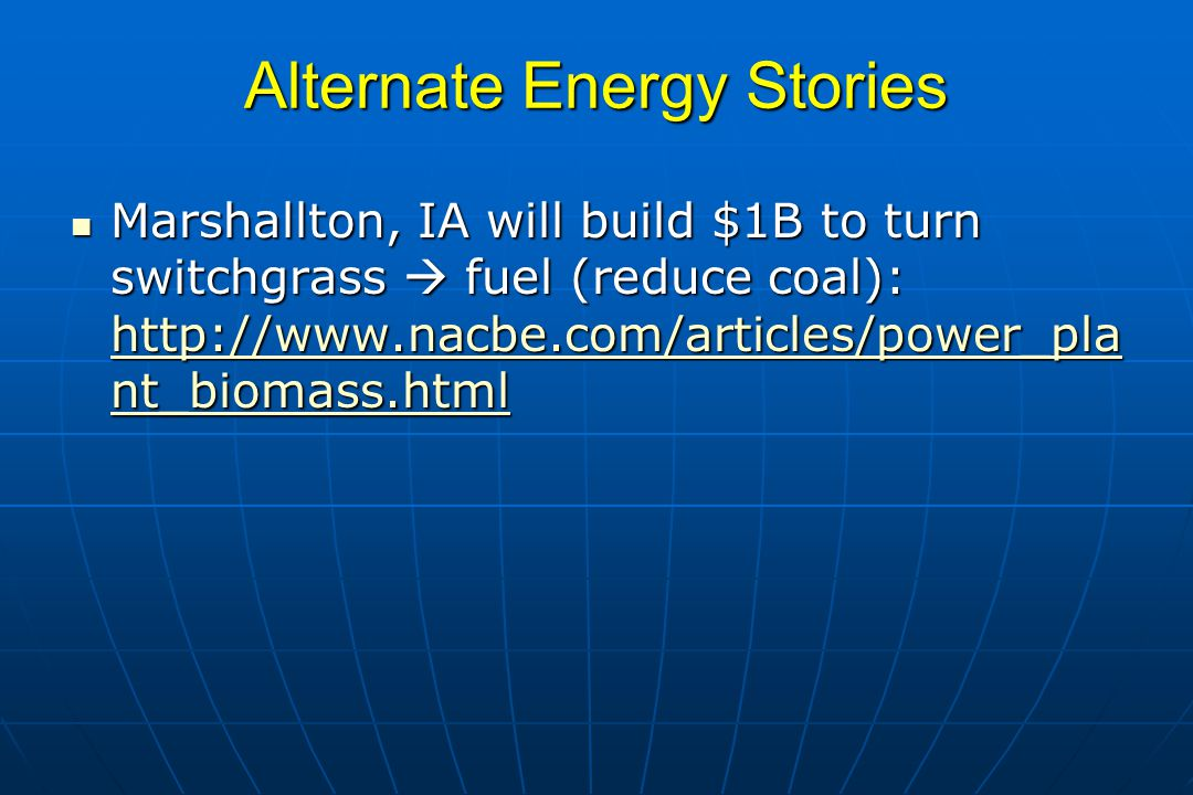 Alternate Energy Stories