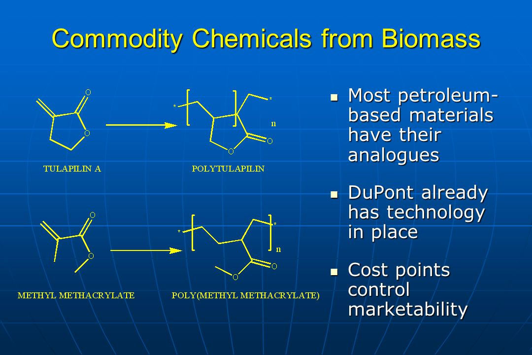 Commodity Chemicals from Biomass