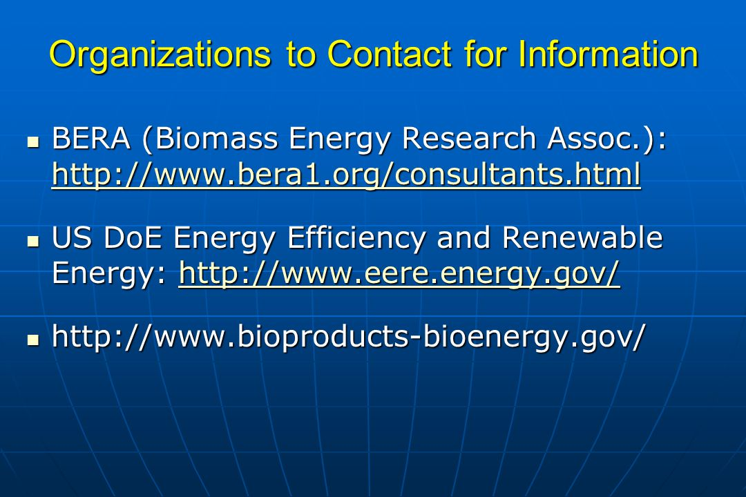 Organizations to Contact for Information