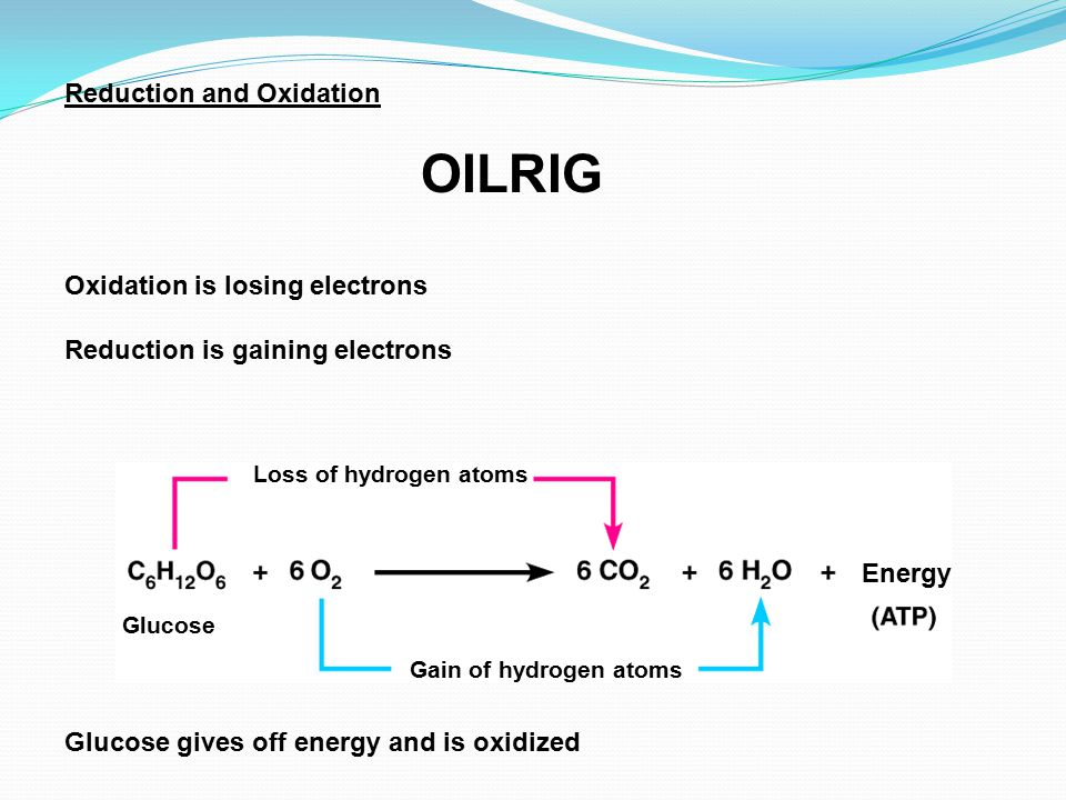 Reduction and Oxidation OILRIG