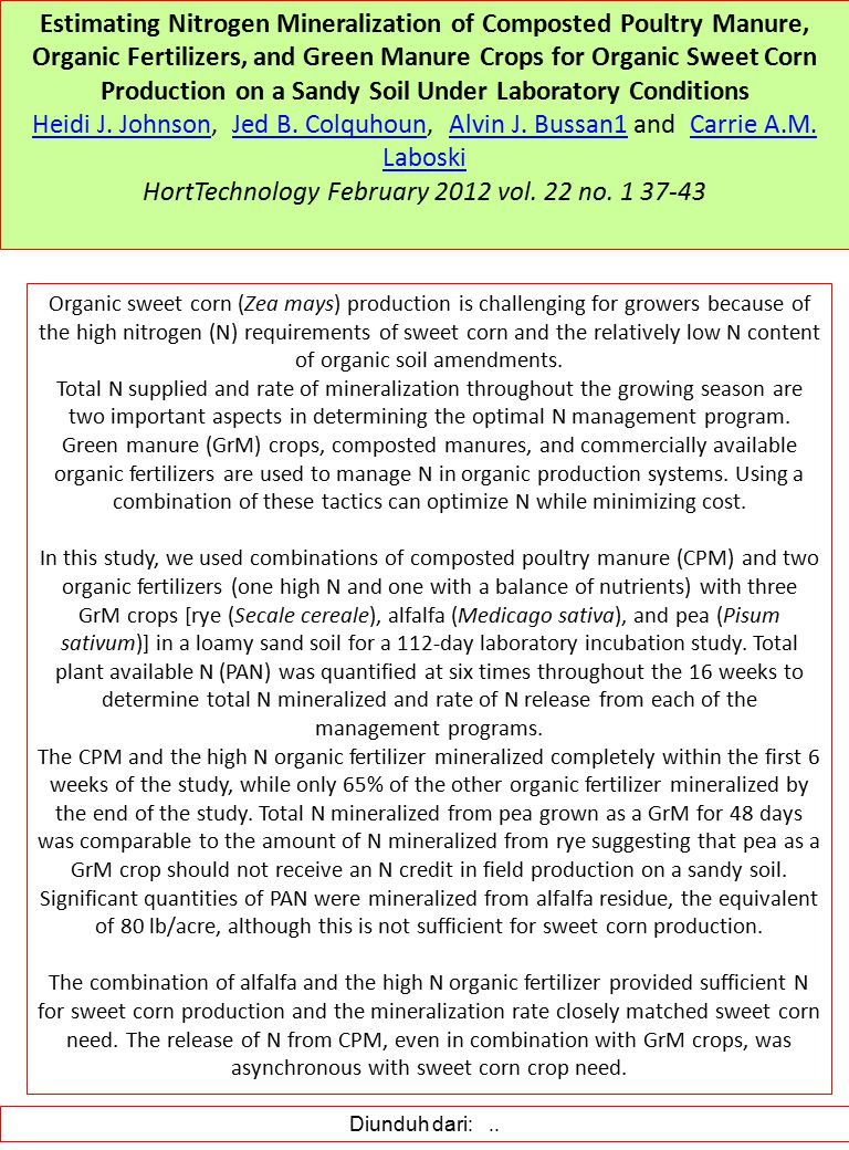 HortTechnology February 2012 vol. 22 no. 1 37-43