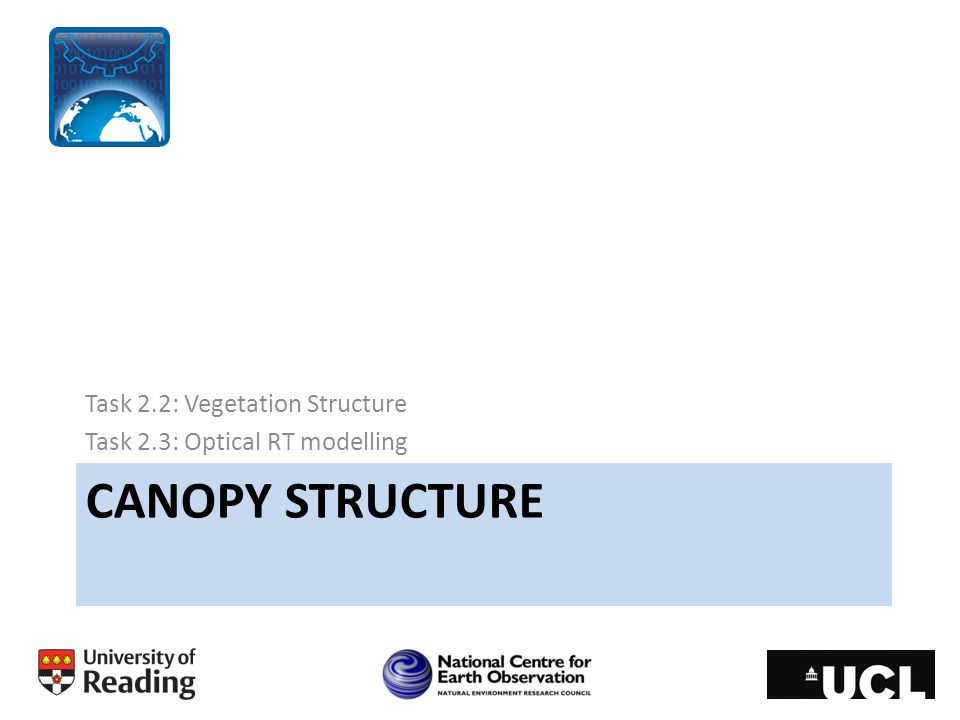 Canopy structure Task 2.2: Vegetation Structure