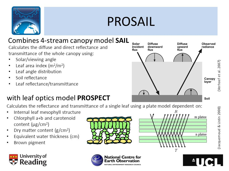 PROSAIL Combines 4-stream canopy model SAIL