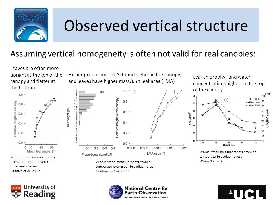 Observed vertical structure