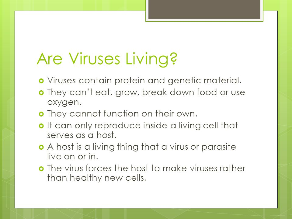 Are Viruses Living Viruses contain protein and genetic material.