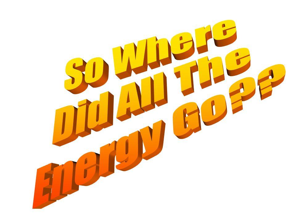 So Where Did All The Energy Go