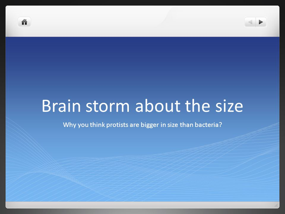 Brain storm about the size