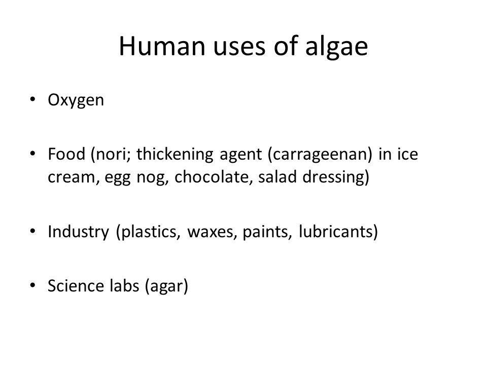 Human uses of algae Oxygen