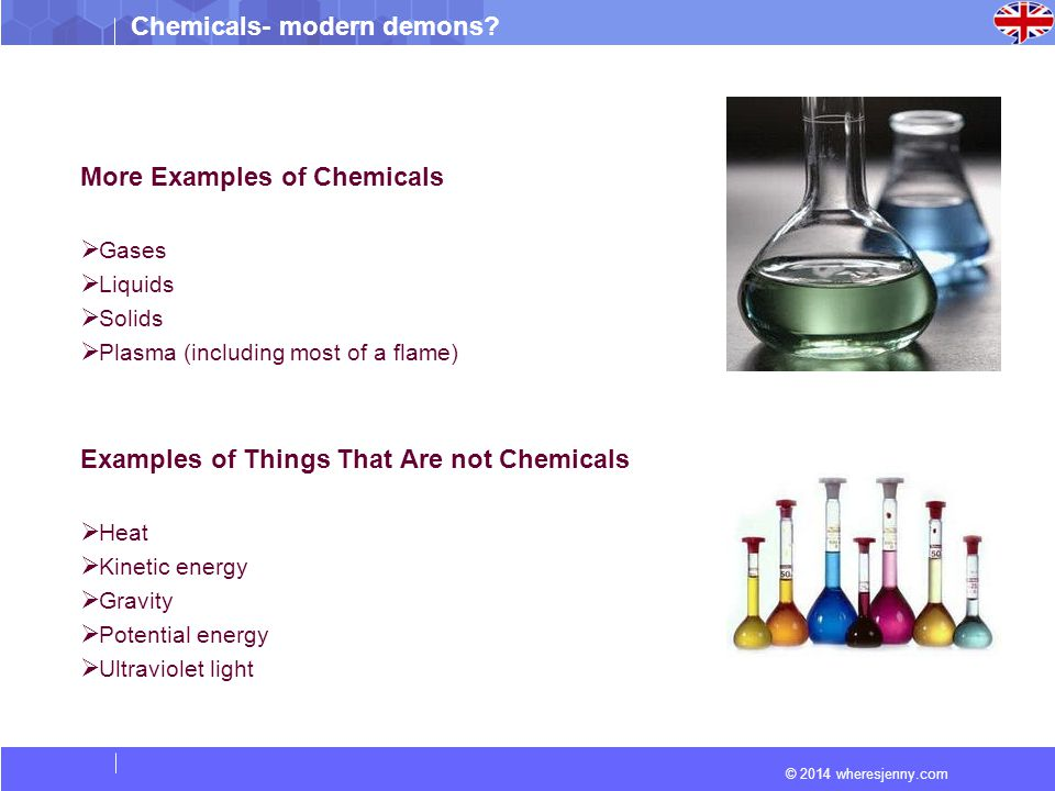 More Examples of Chemicals