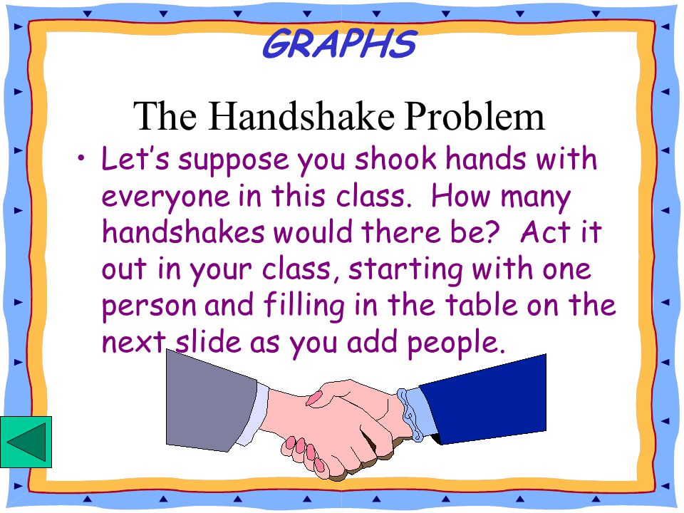 The Handshake Problem GRAPHS