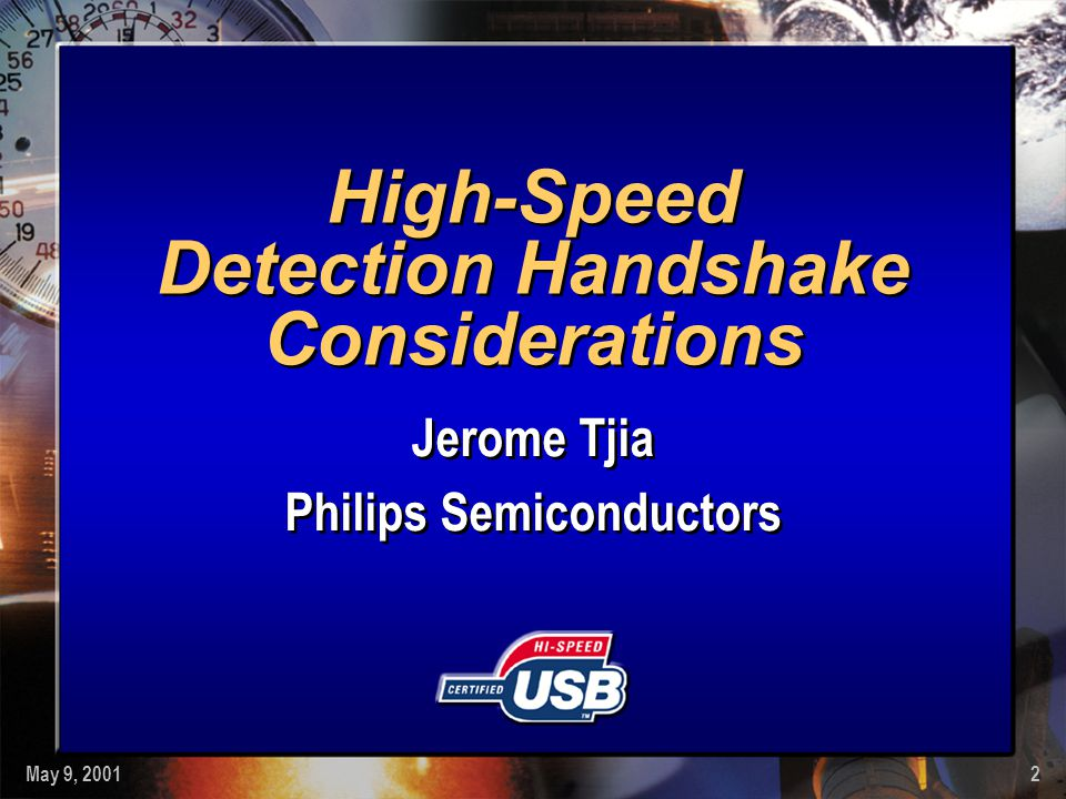 High-Speed Detection Handshake Considerations