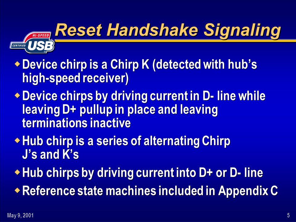 Reset Handshake Signaling