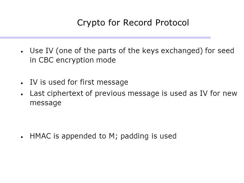 Crypto for Record Protocol