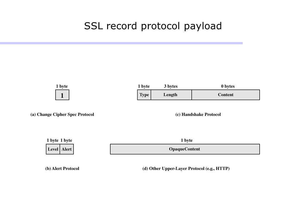 SSL record protocol payload