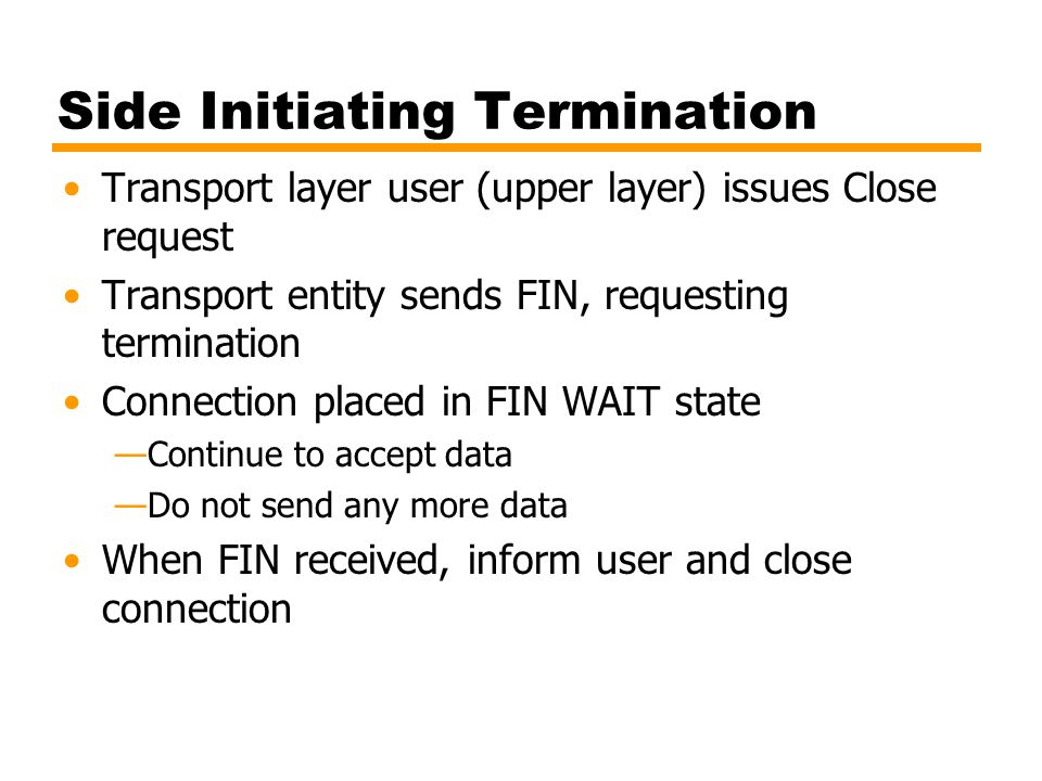 Side Initiating Termination