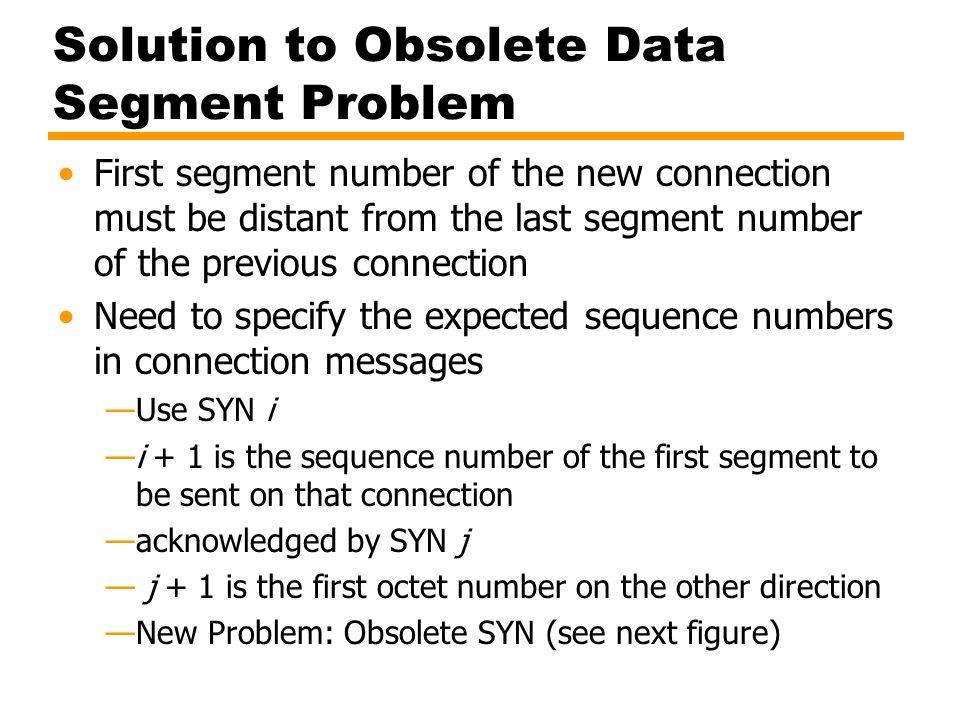 Solution to Obsolete Data Segment Problem