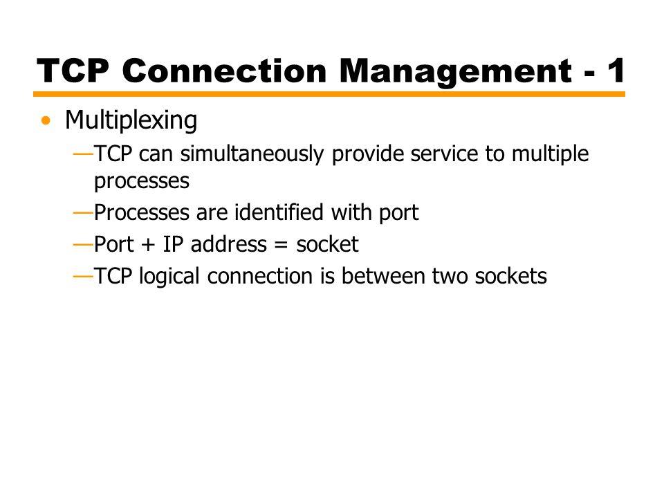 TCP Connection Management - 1