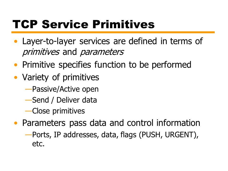 TCP Service Primitives