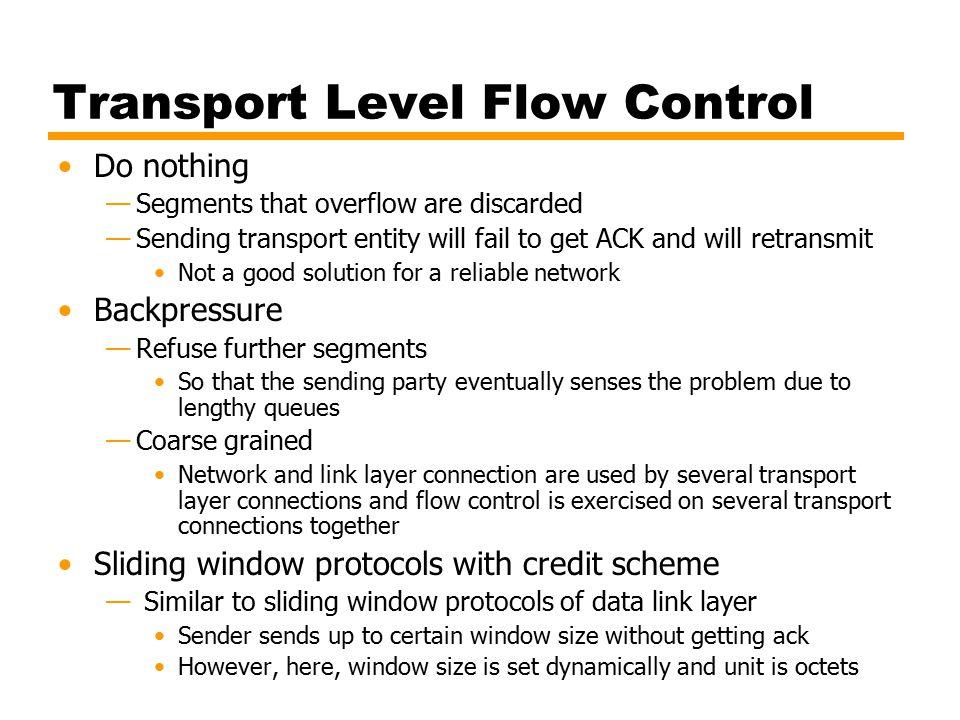 Transport Level Flow Control