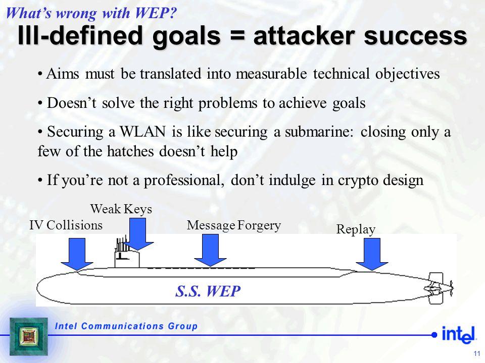 Ill-defined goals = attacker success