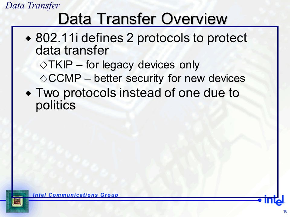 Data Transfer Overview