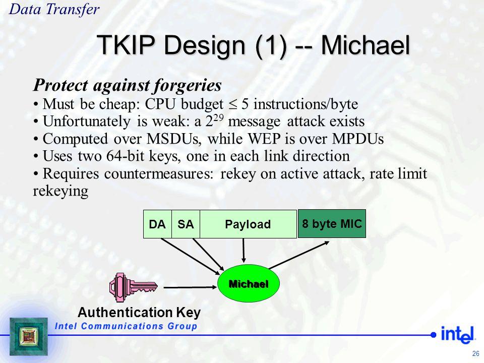 TKIP Design (1) -- Michael