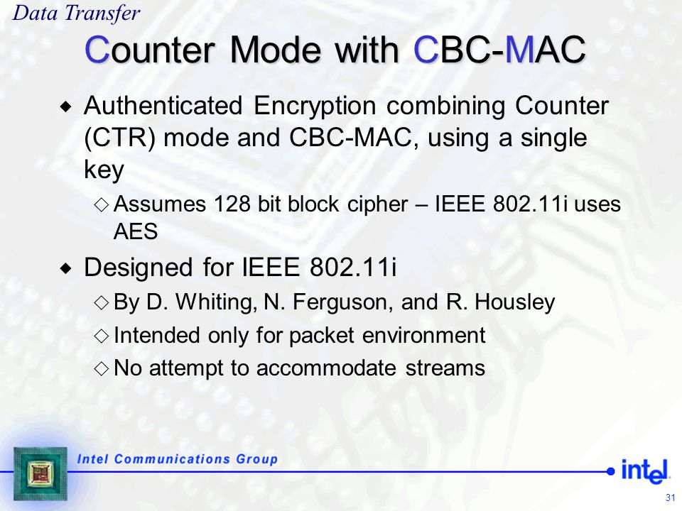 Counter Mode with CBC-MAC