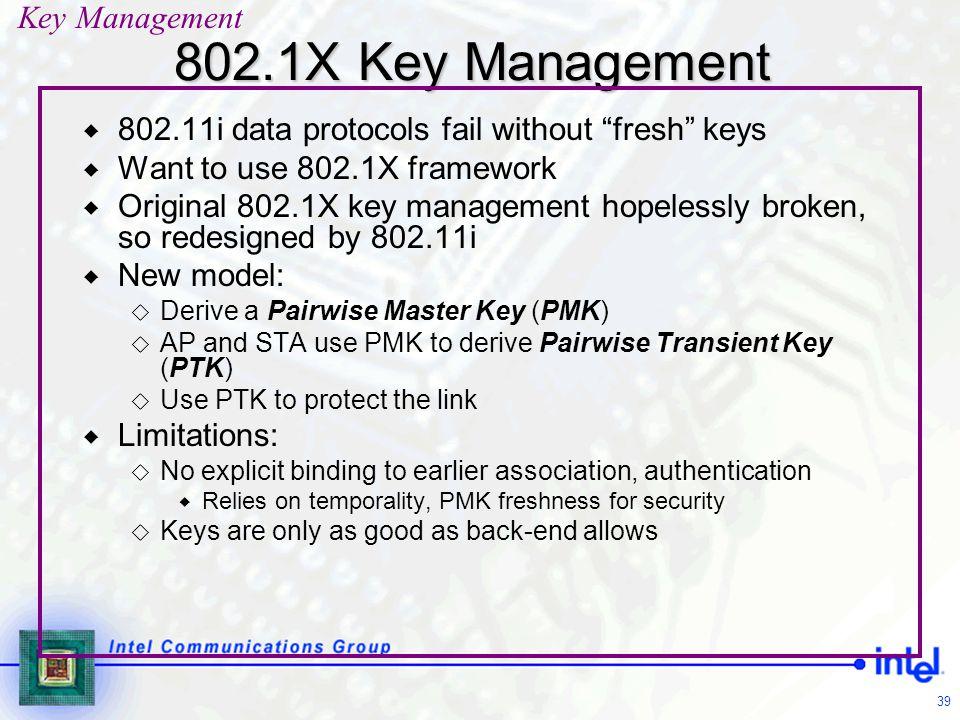 802.1X Key Management Key Management