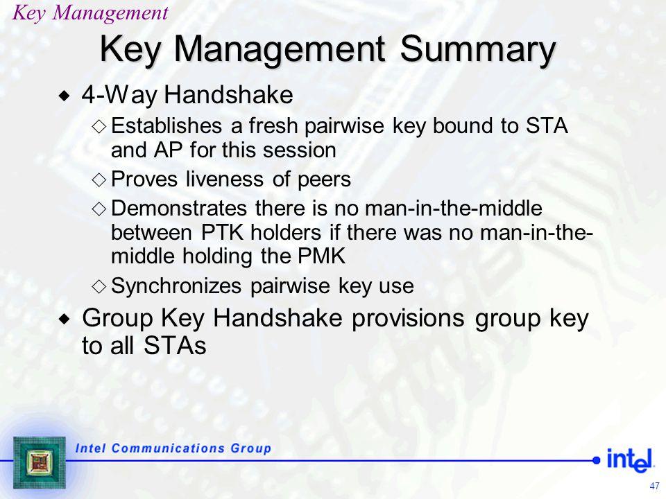Key Management Summary