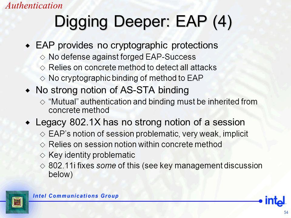 Digging Deeper: EAP (4) Authentication