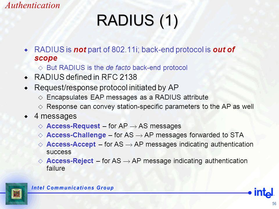 RADIUS (1) Authentication