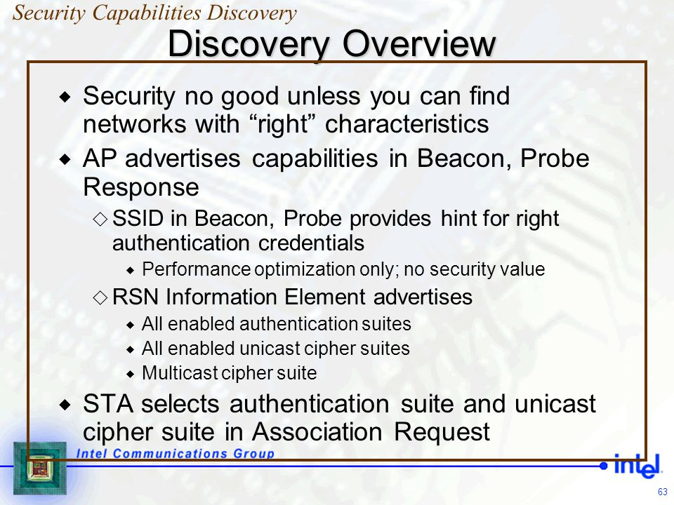 Security Capabilities Discovery