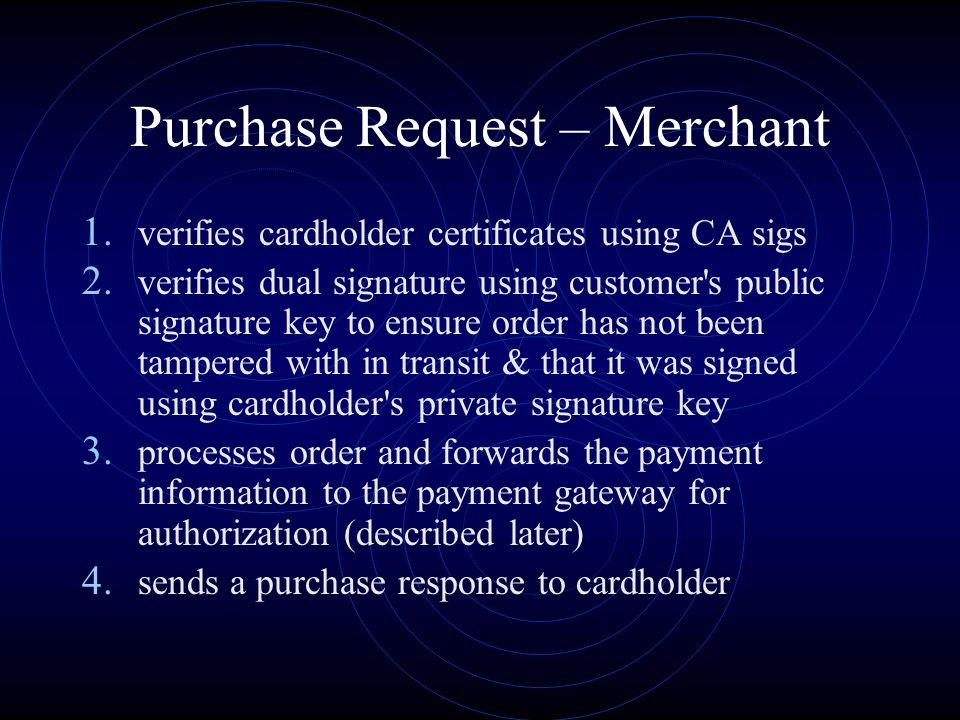 Purchase Request – Merchant