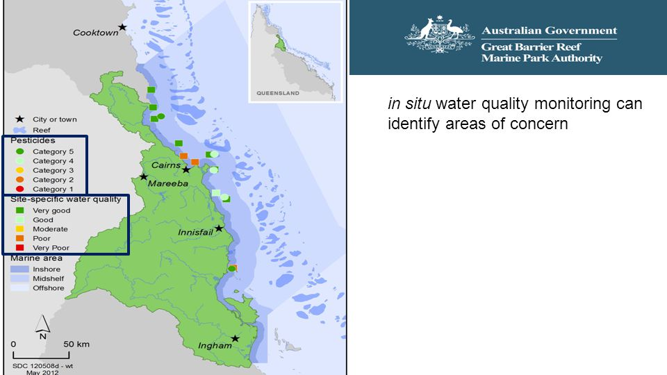 in situ water quality monitoring can identify areas of concern