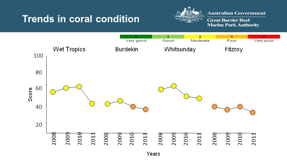 Trends in coral condition