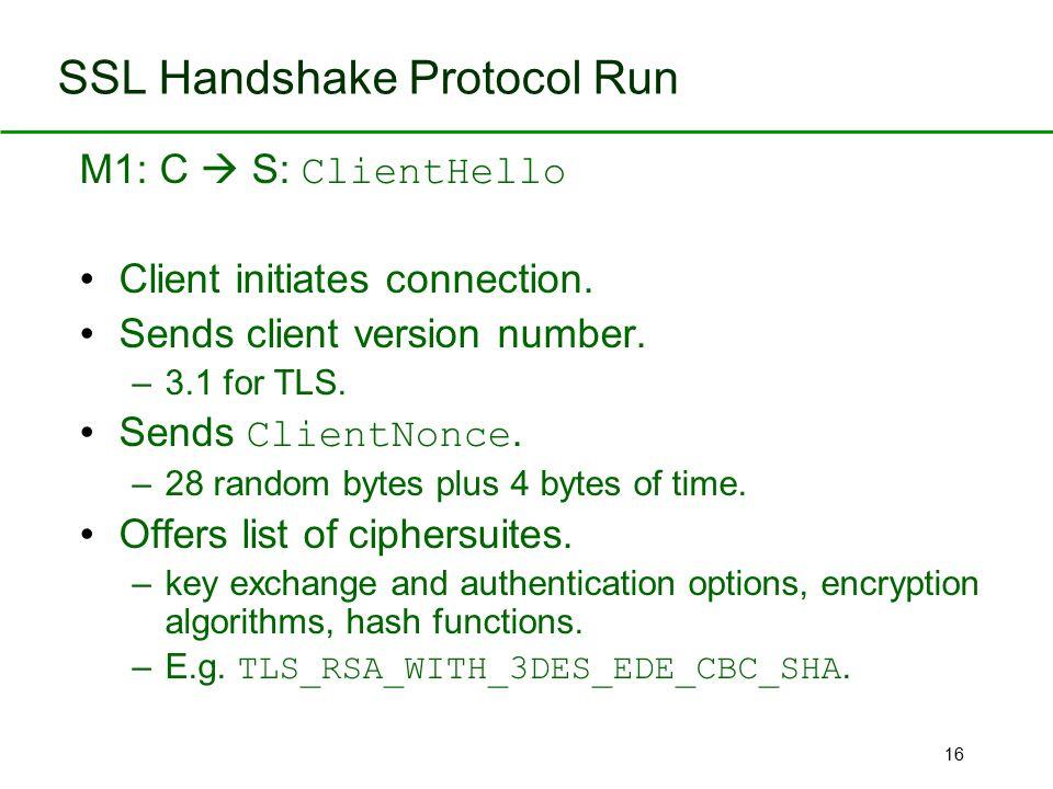 SSL Handshake Protocol Run