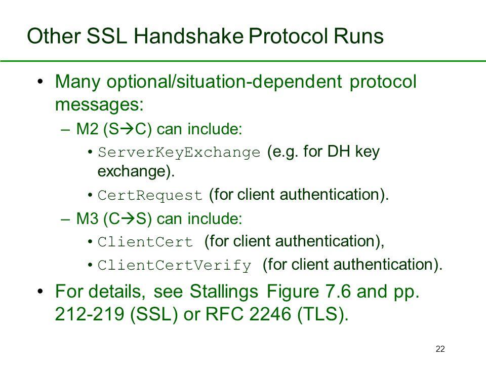 Other SSL Handshake Protocol Runs