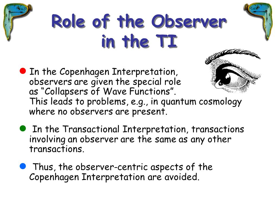 Role of the Observer in the TI