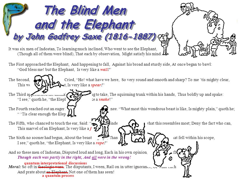 The Blind Men and the Elephant by John Godfrey Saxe (1816-1887)