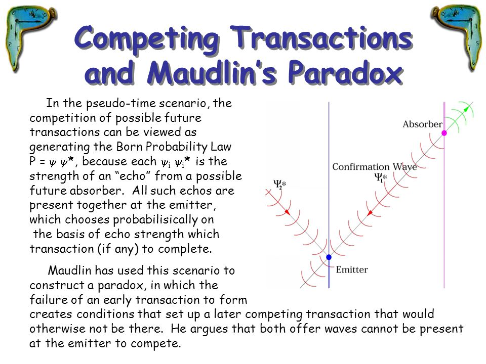 Competing Transactions and Maudlin's Paradox