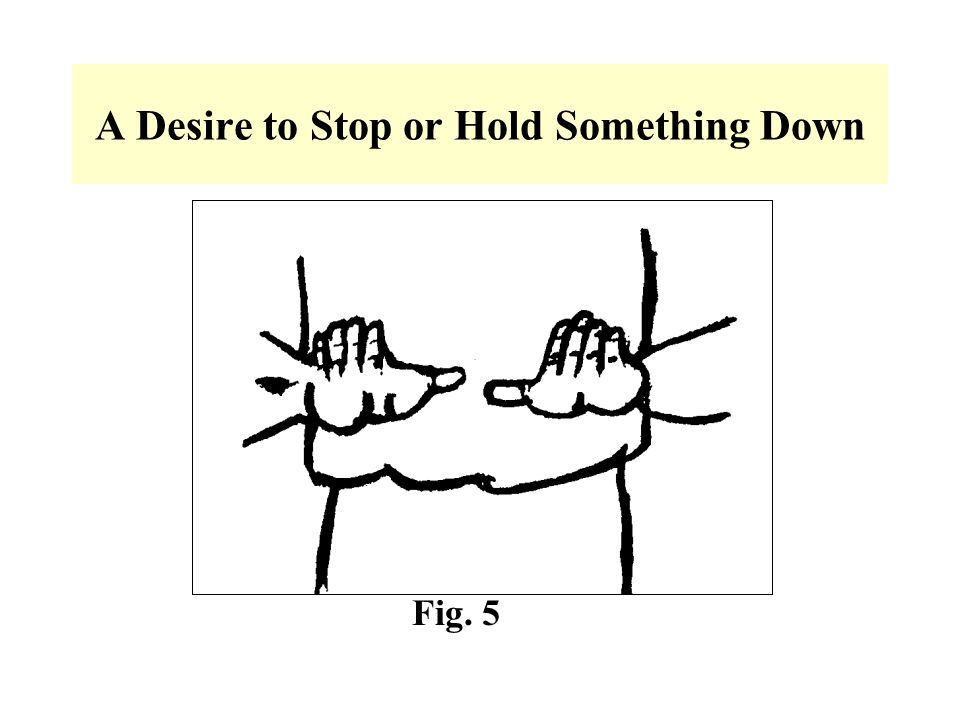 A Desire to Stop or Hold Something Down