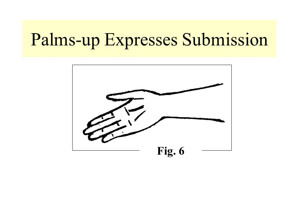 Palms-up Expresses Submission