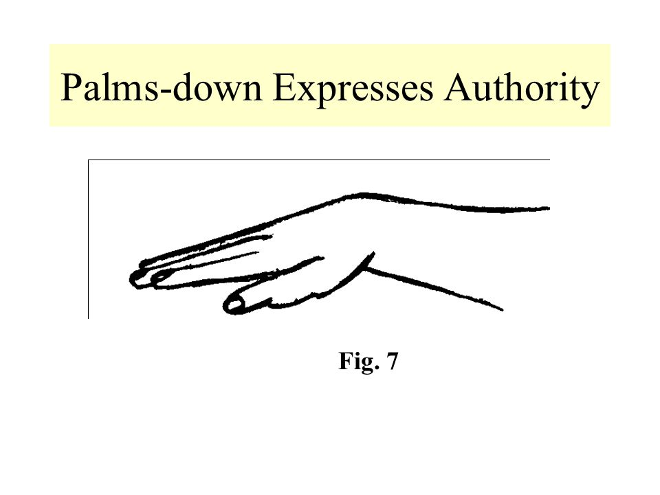 Palms-down Expresses Authority