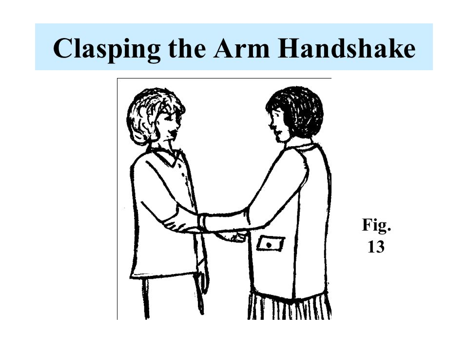Clasping the Arm Handshake